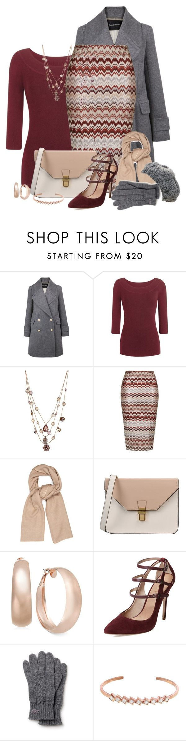 """""""Zig-Zag Pencil Skirt"""" by cathy0402 ❤ liked on Polyvore featuring Tara Jarmon, Betsey Johnson, Topshop, Denis Colomb, 8, INC International Concepts, Maiden Lane, Lacoste, San Diego Hat Co. and women's clothing"""