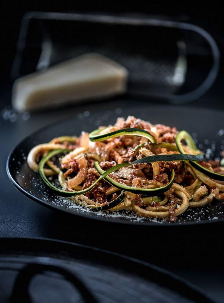 Pasta van groente spaghetti maken