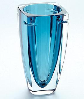 waterford crystal blue vase