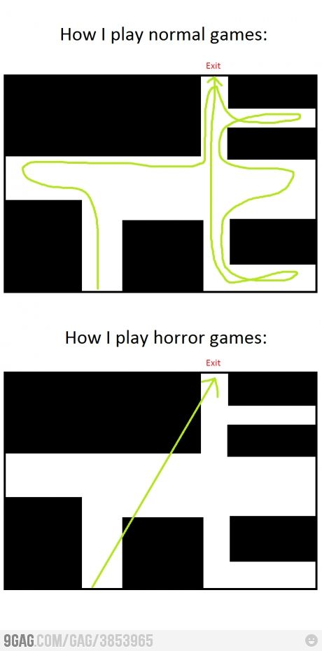 So true. For me at least (though they're more like thrillers, not horror games...)