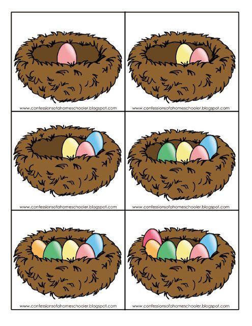 Eieren tellen met kleuters 1. Ook te gebruiken voor de begrippen meer en minder en om op volgorde te laten leggen.