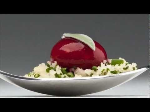 Cocina Molecular - RAVIOLES DE FRAMBUESA - YouTube
