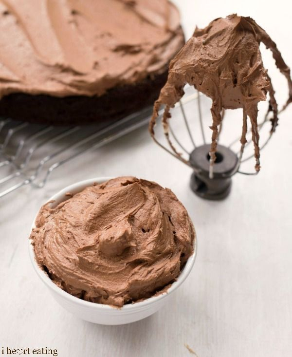 Chocolate butter cream frosting that is light and rich without being heavy and overly sweet.
