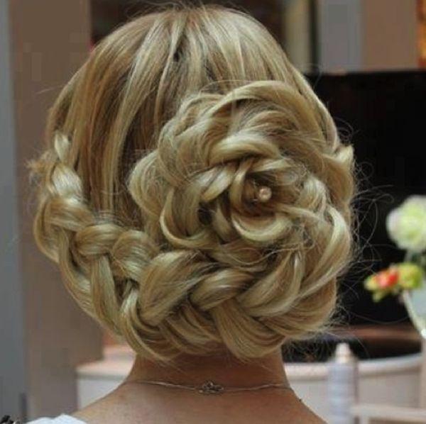 Frozen inspired wedding hair updo