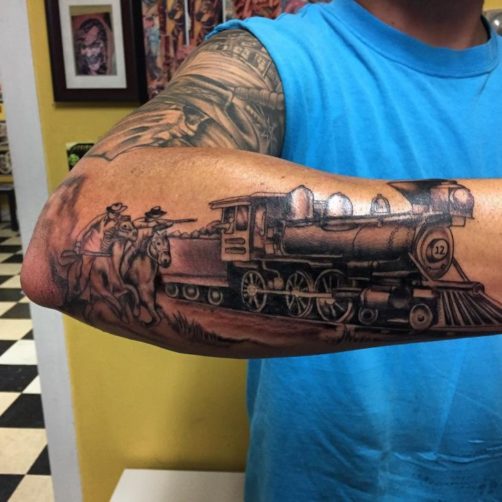 36 best train tattoos images on pinterest train tattoo for Crazy train tattoos
