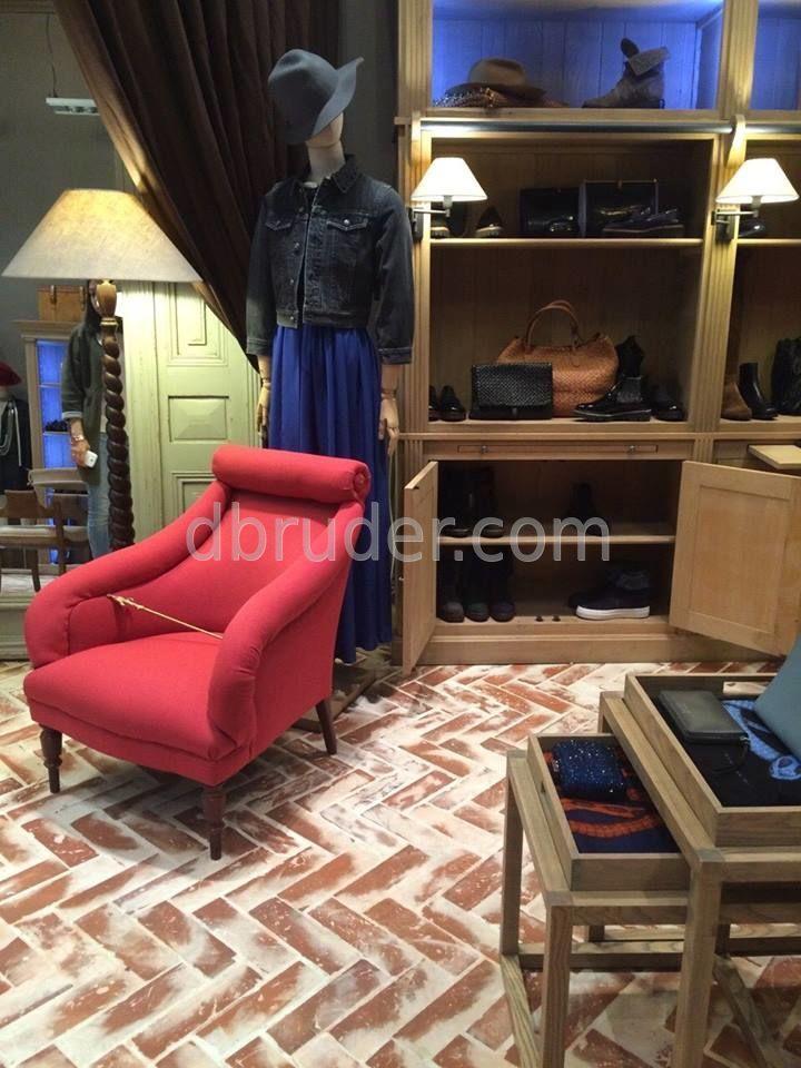 Шлифованные полы из старого кирпича   с нанесением декоративной Патины
