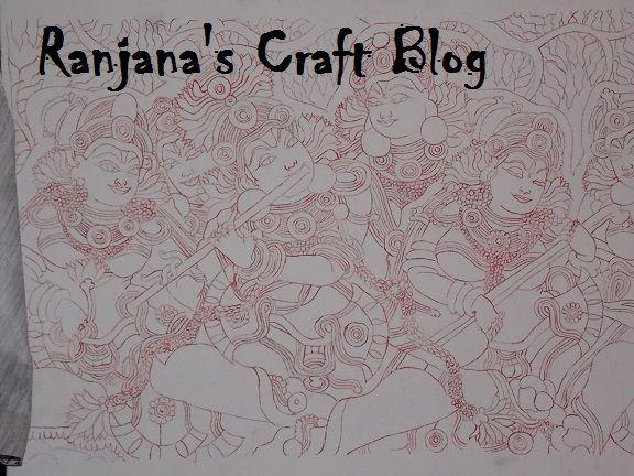 Kerala Mural on Canvas- Brief tutorial
