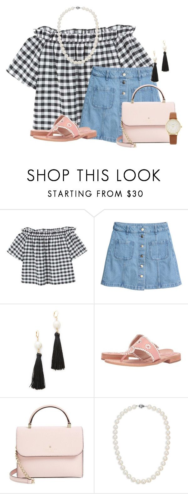 """""""Inspired by Belle of the Ball:)"""" by flroasburn ❤ liked on Polyvore featuring MANGO, H&M, Kate Spade, Jack Rogers and Blue Nile"""