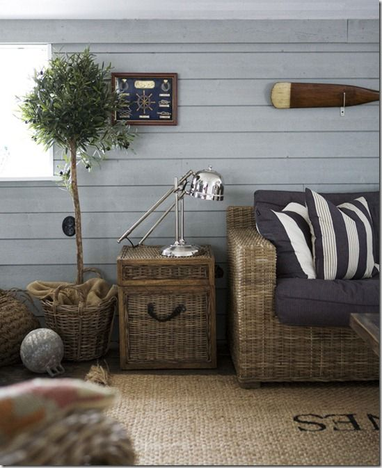 coastal living room boat oars make a great living room decor item over the couch