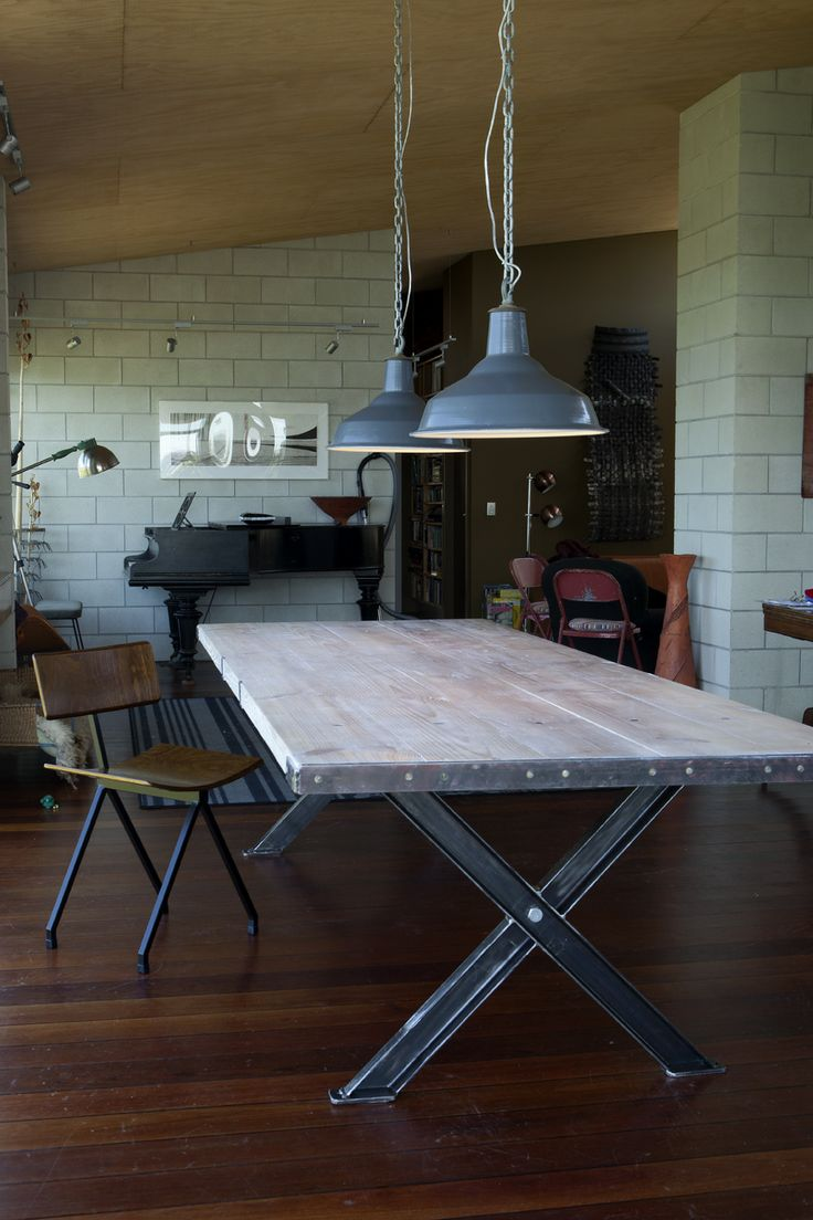 Made to order table, chair, lamps   Andrew Missen   Nidus Furniture
