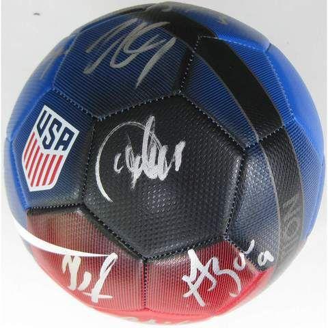 2016 USA Mens National Soccer Team, Signed, Autographed, USA Logo Soccer Ball,