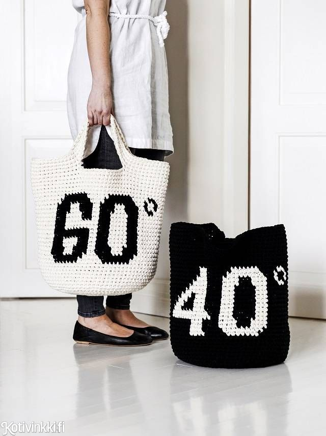 Kotivinkki - laundry bag #free #crochet #pattern #freepattern
