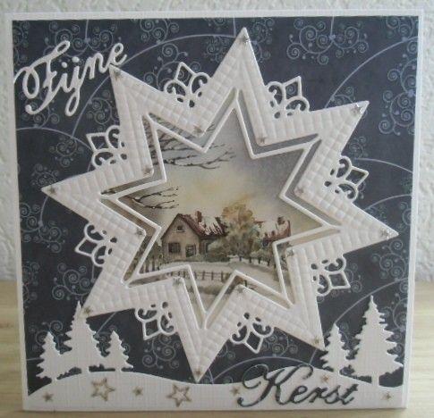 Voorbeeldkaart - Kerst - Categorie: Stansapparaten - Hobbyjournaal uw hobby website
