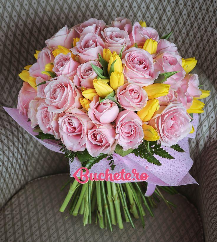 Așa-i că zilele de luni sunt mai faine atunci când încep cu un buchet în culori calde și optimiste - http://bit.ly/2p8qxNI.   #florarie #livrareflori #lalelegalbene