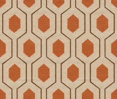 Geometric Retro Vintage Mid Century Patterned Fabric by the Yard - Apricot. $52.00, via Etsy.