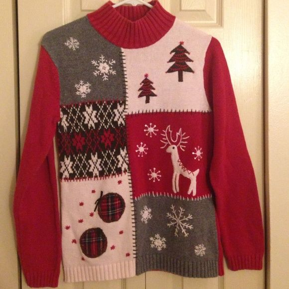 Second best Christmas sweater! Short turtle neck line. Really a beautiful sweater. B. Moss Sweaters