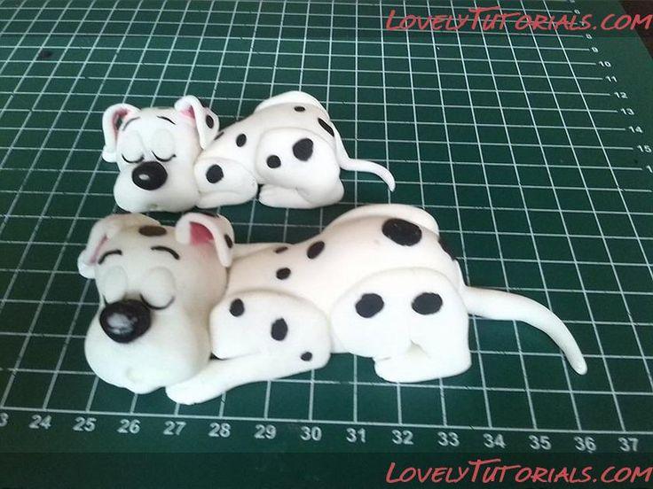 Dalmatian cake topper tutorial