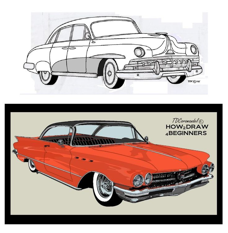 Freestyle hand drawn Lincoln - and using Microsoft Paint (2009 edition) versus a computer animation program. Computer graphics programs make drawings more realistic and accurate. CAD programs get you to the next level of realism. A basic animation program was used to map out the Buick (orange car). Created using Anime Studio Debut 6