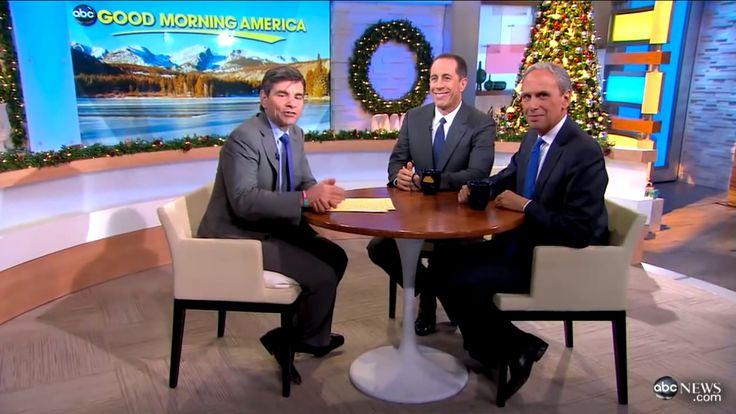 Jerry Seinfeld & George Stephanopoulos talk Transcendental Meditation on Good Morning America