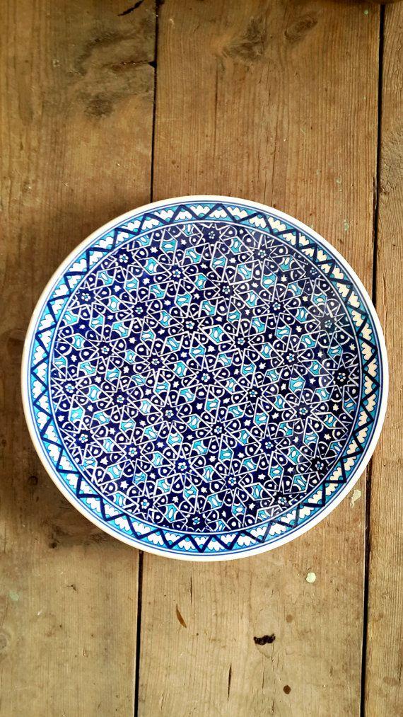 Hand Made Turkish Ceramic Plate / Wall Decor / iznik Ceramic