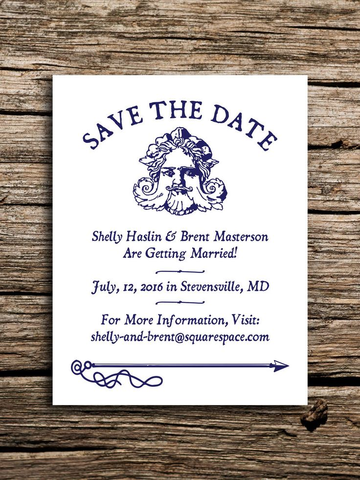 cruise wedding save the date announcement%0A Mythical Mariner Save the Date    Antique Nautical Wedding Invites Rustic  Navy Blue Beach Wedding