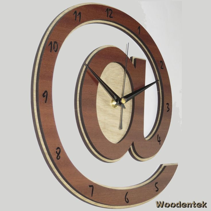 Handmade Wonderful AT (@) Clock in wood. Worldwide Shipping. Available in:  www.woodentek.etsy.com... The perfect gift for geeks and computers and fans!!!.... #At #Email #Cloud #Computer #Hackers #Arroba #Freaky #Frikis #Gadget #Gamer #Gamers #Gaming #Geek #Nerd #Chiocciola #Arrobe #BirthdayGifts #MothersDay #FathersDay #Artisan #Giftforme #GiftGiving #Gifts #GiftsIdeas #Christmas #WishList #Giftformen #Giftforher #fanart #holiday #holidaygifts #giftguide #present #xmas #giftshop