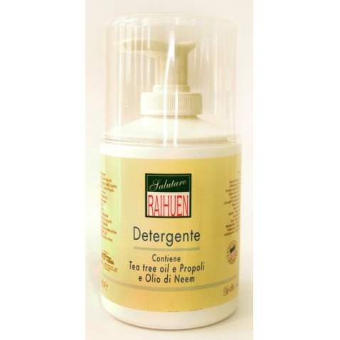 Detergente con Tea Tree Oil, propopli e olio di Neem by Sanarmonia  http://www.sanarmonia.it/linea-cosmetica-funz/linea-olio-di-neem/detergente--raihuen/471/