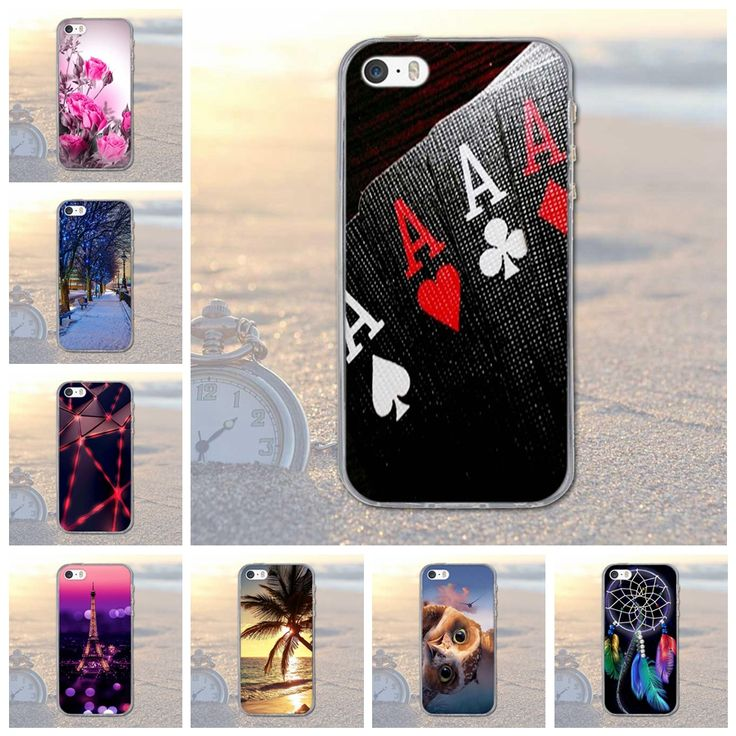 Fashion Printed Winds Owl And Flag TPU Slim Silicone Soft Cell Phone Cover Case For iPhone 5S 5 Protector Capa Funda for iphone5