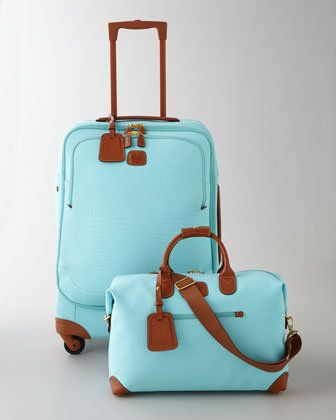 Brics Esmeralda Luggage Collection— I just like the gussets at the bottom and the color combo