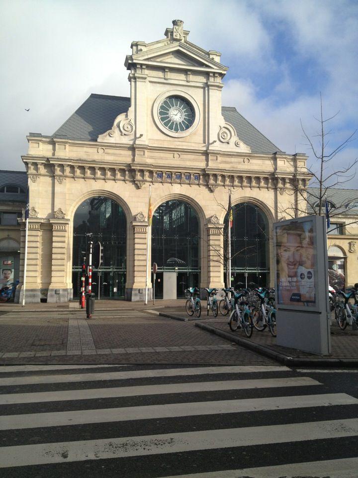 Namur, la gare. Train station of Namur, Belgium