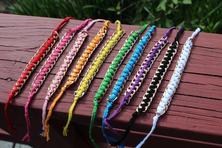 DIY chain friendship bracelets