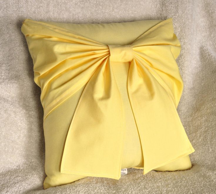 Yellow Bow Pillow - Decorative Pillow. $32.00, via Etsy. love the color