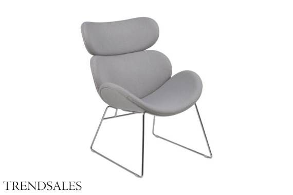 Hvilestol - Cazy lænestol i lys grå.