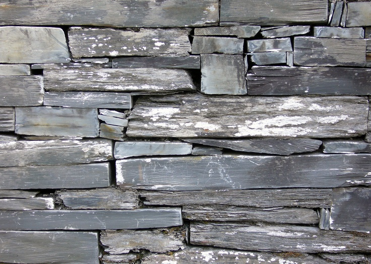 Welsh slate wall