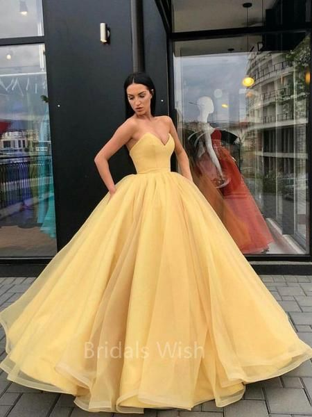 Awesome Charming Organza Ball Gown Sweet Heart Long Evening Prom Dresses, BW0307#promdre…