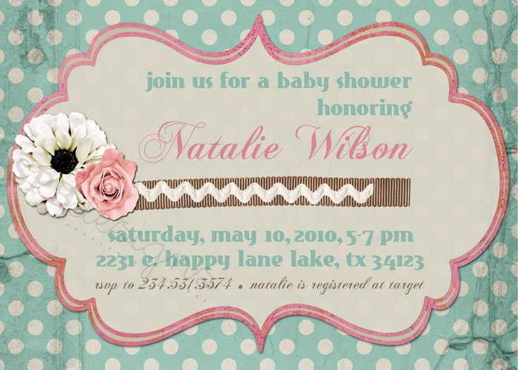 shabby chic baby shower invitations | ... is for the customizable SHABBY CHIC baby or bridal shower invitation