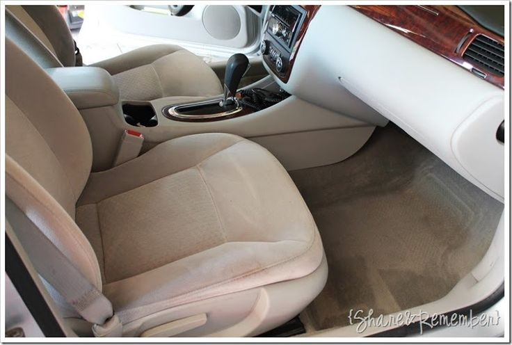 Cleaning the car with OxiClean Versatile stain remover