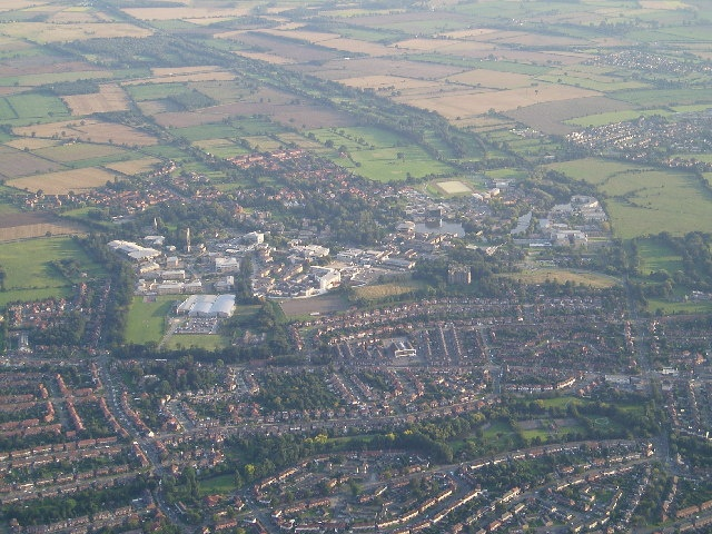 University of York campus. Aerial view.