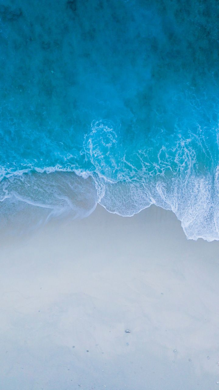 Beach Sea Shore Blue Water Sea Waves Aerial View 720x1280 Wallpaper Blue Water Wallpaper Beach Wallpaper Iphone Nature Wallpaper