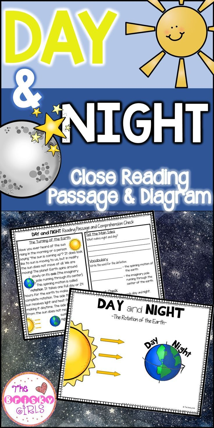 Day And Night Outer Space Activities Solar System Resources Rotation Of The Earth Earth Reading Passages 1st Grade Science Fair Earths Rotation Activities
