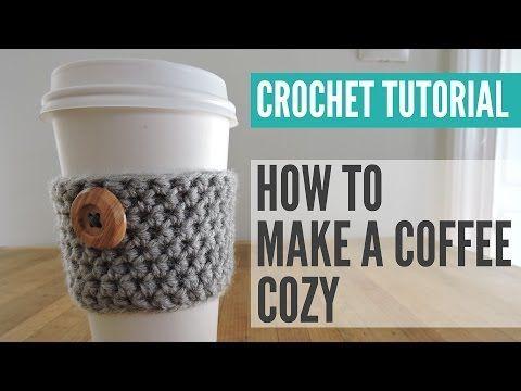 Crochet Coffee Cozy Pattern