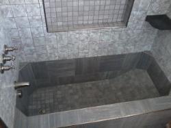 Roman Style Tub, Tile Bathtub, Custom Tile Bathtub, and Roman Tub.