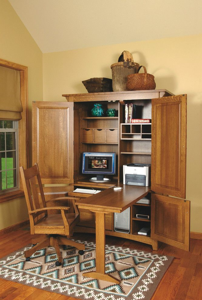 25 great ideas about computer armoire on pinterest for Decorating ideas for computer room
