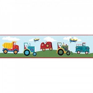 Transportation Peel & Stick Wall Border Kids room