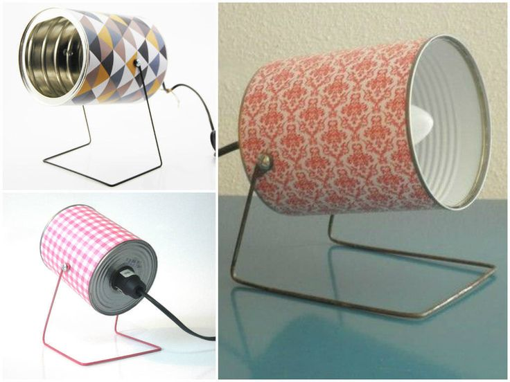 Retro handmade lamps from repurposed tin cans!