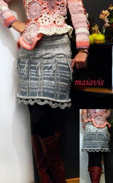 Fusta mini knitted skirt women fashion