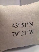Coordinates Custom Linen Pillow