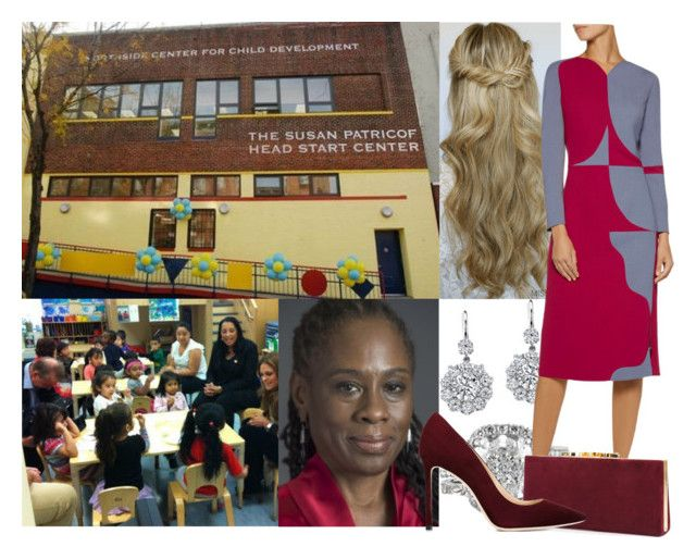 """Visit to New York & Washington: Day 2 -  Visiting the Northside Center for Child Development with the First Lady of New York, Chirlane McCray"" by alexandraofwales ❤ liked on Polyvore featuring Neil Lane, Antonio Berardi and Jimmy Choo"