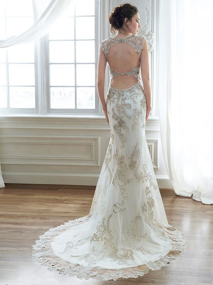 Love The Gorgeous Back Of Maggie Sottero Bridal Gown Jade