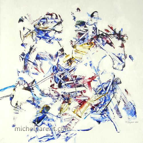 Écuyère (Horsewoman), 2013 acrylique sur toile,60 x 60 cm